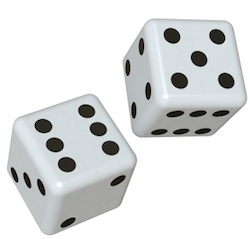 A picture of some dice