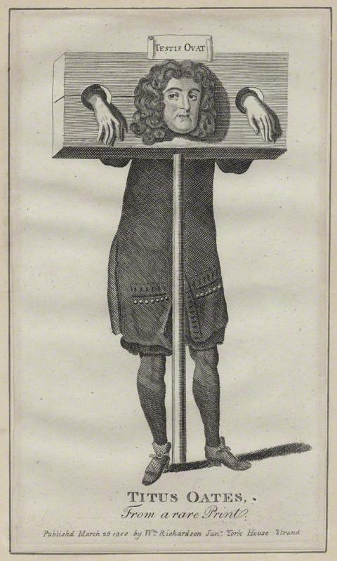 NPG D31036; Titus Oates after Unknown artist