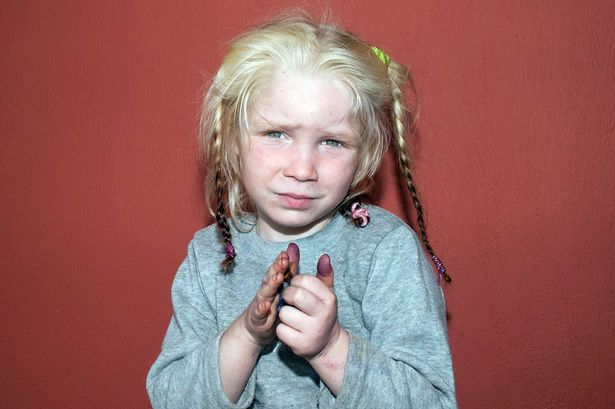 blonde hair, gypsy hands