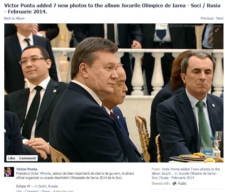 Ukrainian President Yanukovich (center) mediates on civil war while Victor Ponta (left) daydreams about being respected