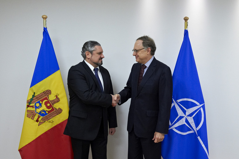 The Minister of Foreign Affairs and European Integration of the Republic of Moldova, Andrei Galbur visits NATO and meets with NATO Deputy Secretary General Alexander Vershbow