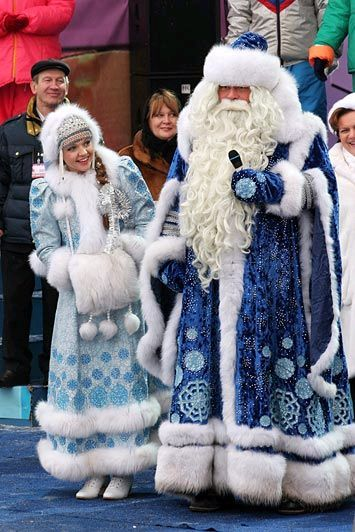 Russian santa shows his fondness for younger women